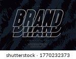 vector brand font bold line...   Shutterstock .eps vector #1770232373