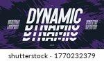 vector dynamic font modern... | Shutterstock .eps vector #1770232379