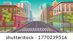 panorama city with shops  ... | Shutterstock .eps vector #1770239516