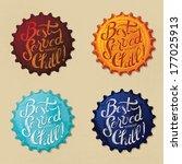 retro bottle cap design   best... | Shutterstock .eps vector #177025913