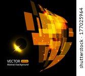 vector abstract background wiht ... | Shutterstock .eps vector #177025964