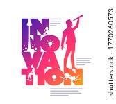 innovation concept typographic... | Shutterstock .eps vector #1770260573