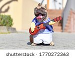 French Bulldog Dog With Mouth...