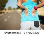 female runner athlete back... | Shutterstock . vector #177029228
