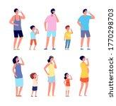 people drinking water. girl... | Shutterstock .eps vector #1770298703