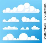 cloud icon  cloud shape. set of ... | Shutterstock .eps vector #1770305006