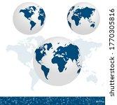 earth globe 3d vector...   Shutterstock .eps vector #1770305816