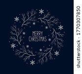 hand drawn merry christmas... | Shutterstock .eps vector #1770307850