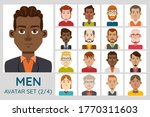 male avatar set. collection of...   Shutterstock .eps vector #1770311603