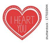 i heart you   cute vector heart   Shutterstock .eps vector #177033044