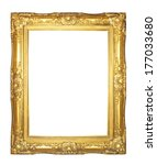 gold  picture frame  isolated... | Shutterstock . vector #177033680