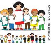 multinational academy project... | Shutterstock .eps vector #177034109