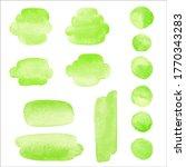 grass green watercolor graphic... | Shutterstock .eps vector #1770343283