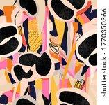 modern leopard seamless pattern.... | Shutterstock .eps vector #1770350366