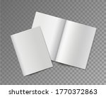 soft cover books. opened and... | Shutterstock .eps vector #1770372863