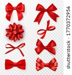 decorative bows. realistic red... | Shutterstock .eps vector #1770372956