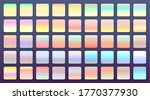 holographic or pastel color...