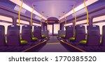empty bus or train interior... | Shutterstock .eps vector #1770385520