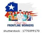 thank you frontline workers.... | Shutterstock .eps vector #1770399170