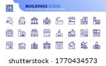 outline icons about buildings.... | Shutterstock .eps vector #1770434573