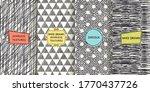 set of seamless hand drawn... | Shutterstock .eps vector #1770437726