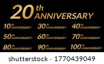 anniversary logo set with... | Shutterstock .eps vector #1770439049