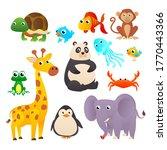 collection wild animals....   Shutterstock .eps vector #1770443366