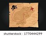 pirate cartoon vintage paper...