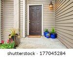 open porch with concrete floor  ... | Shutterstock . vector #177045284