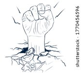 sketch of the fist from the... | Shutterstock . vector #1770456596