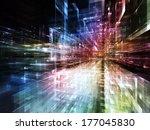 city lights series. visually... | Shutterstock . vector #177045830