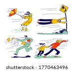 characters fighting with strong ... | Shutterstock .eps vector #1770463496