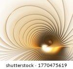 Abstract Fractal Golden Brown...