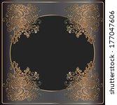 luxury gold frame on black... | Shutterstock . vector #177047606