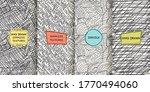 set of seamless hand drawn... | Shutterstock .eps vector #1770494060
