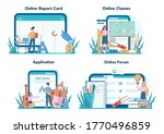 teacher online service or... | Shutterstock .eps vector #1770496859