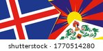 iceland and tibet flags  two... | Shutterstock .eps vector #1770514280