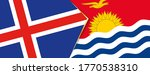 iceland and kiribati flags  two ... | Shutterstock .eps vector #1770538310