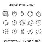 simple design watch icon  clock ...