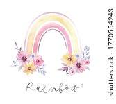 watercolor stylish rainbow. a...   Shutterstock . vector #1770554243