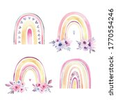 stylish watercolor rainbows. a...   Shutterstock . vector #1770554246