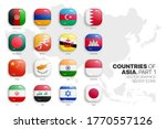 asian countries flags vector 3d ... | Shutterstock .eps vector #1770557126