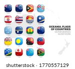 oceania countries flags vector... | Shutterstock .eps vector #1770557129