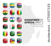 african countries flags vector... | Shutterstock .eps vector #1770557153