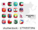 asian countries flags vector 3d ... | Shutterstock .eps vector #1770557396
