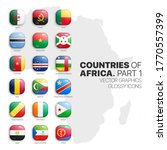 african countries flags vector... | Shutterstock .eps vector #1770557399
