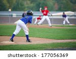 runner on third | Shutterstock . vector #177056369