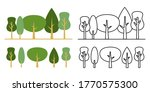 forest vector icon design set... | Shutterstock .eps vector #1770575300