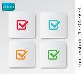 check list buttons vector   Shutterstock .eps vector #177057674