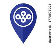 flat map marker icon with osaka ... | Shutterstock .eps vector #1770579023